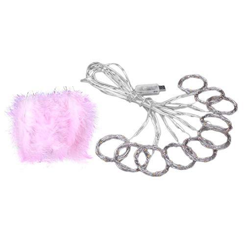 akaddy 300LED Kupferdraht Feder Vorhang Lampe USB Fairy String Licht Party Decor -