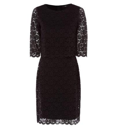 zero Damen Kleid aus Spitze 413918 black 36