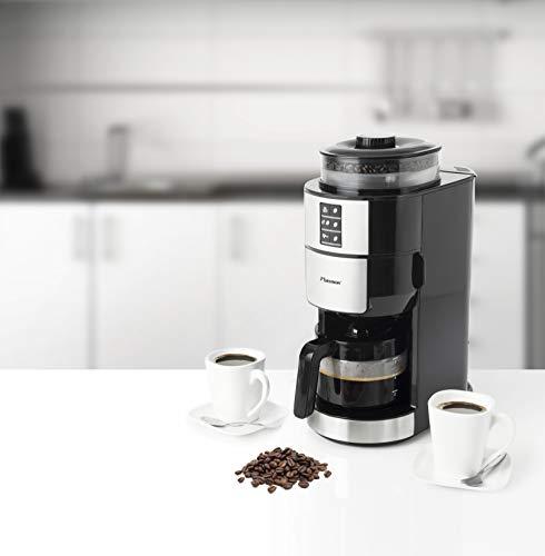 Bestron ACM1100G Kaffeemaschine mit Mahlwerk , 820 Watt max. bis zu 6 Tassen
