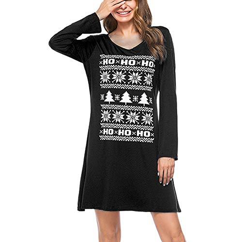 Kanpola Kleider Damen Weihnachten Christmas Kostüm Lässiges Elegant -