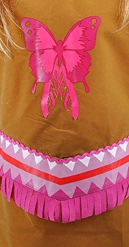 Imagen de erdbeerloft–niña carnaval indios indios niña pocahontas disfraz, todas las piezas visibles, color marrón rosa, muchos tamaños alternativa