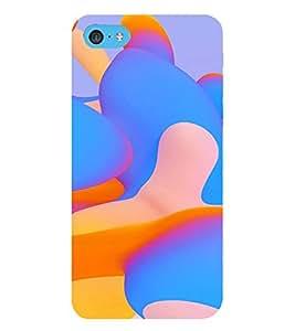 PrintVisa Blue & Orange Wave Pattern 3D Hard Polycarbonate Designer Back Case Cover for Apple iPod Touch 6