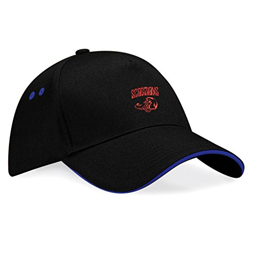 Stickerei Plus Scorpions Bestickte Baseball Cap Mütze - k133 (SW-Blau)