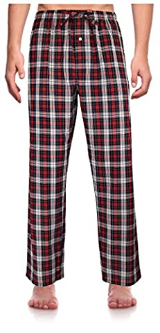 Robes King Herren Relaxed Schlafanzughose Gr. XXX-Large, Red, Plaid (0156)