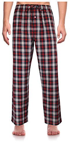 Robes King Herren Relaxed Schlafanzughose Gr. XXX-Large, Red, Plaid (0156) (Pyjama Plaid Holiday)