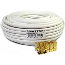 Juego de Smartsat Satkabel 10 M, 20 M, 30 M, 50 M, cable coaxial de juego de accesorios para DVB-S, TDT y DVB-C/BK instalaciones, TV de alta definición, ...
