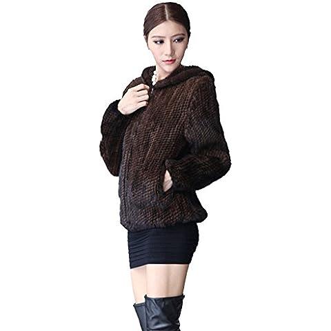 Fur Story 15131 Donne Breve Reale Pelliccia di Visone