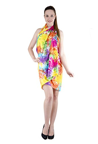 The Indian Craft Batik-Badeanzug aus Baumwolle, Peshtemal - Pareo, Sarong, Finge, Badeanzug, Bikini-Überzug Classic 110 x 180 Mehrfarbig -
