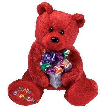 TY Beanie Baby - HAPPY BIRTHDAY the Bear ( Red - w/ Present ) by Beanie Babies (Happy Birthday Beanie Baby)