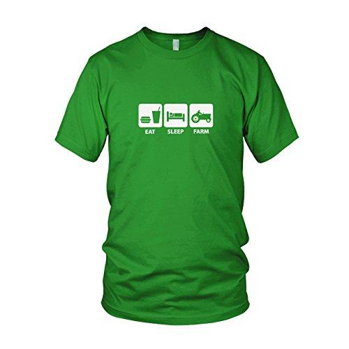 (Planet Nerd Eat. Sleep. Farm - Herren T-Shirt, Größe: XL, Farbe: Grün)