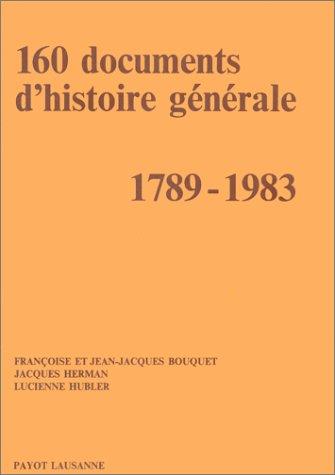 160 documents d'histoire générale