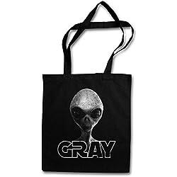 Urban Backwoods Gray Alien Invader II Hipster Bag – Extraterrestre OVNI Grey UFO Vril Haunebu Majestic 12 Grey Area 51 TR3B Project Blue Book