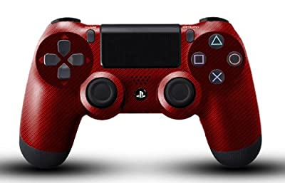 Custom PS4 Controller - Red Carbon