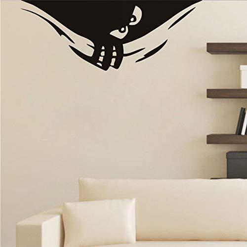Mrhxly Sneaky Spähen Monster Vinyl Entfernbare Wandaufkleber Nette Monster Halloween Dekoration Wandkunst Aufkleber Für Kinderzimmer Wohnkultur 60 * 24 Cm