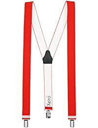 Xeira Bretelles de haute qualité avec 3 Clips fort de 35mm dans 15 Couleurs / Neon / Couleurs - Fabriqué en Allemagne