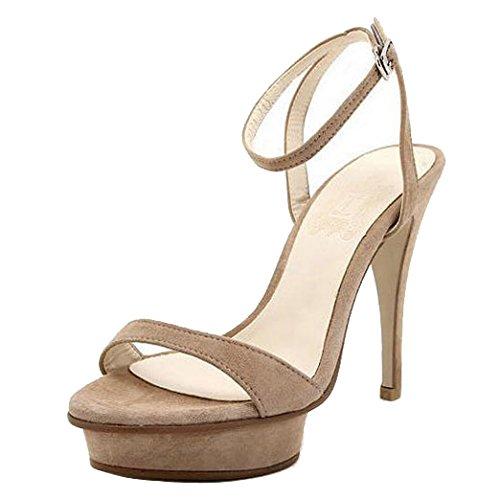 Calaier Femme cacatcat 11.5CM Aiguille Boucle Sandales Chaussures Beige