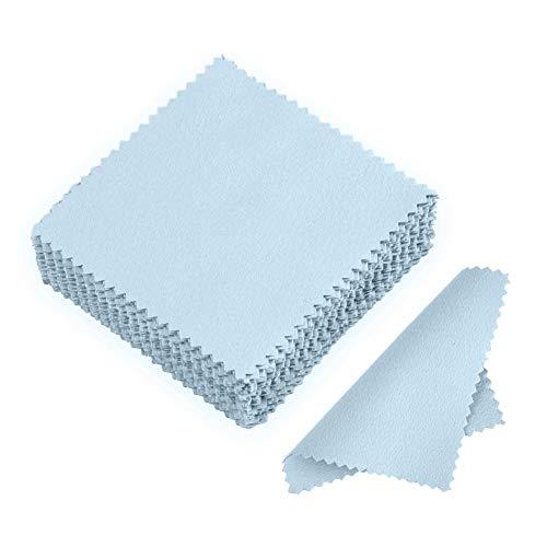 LANGING 50 Stück Poliertuch Schmuck Reinigungstuch für Sterling Silber Gold Platin