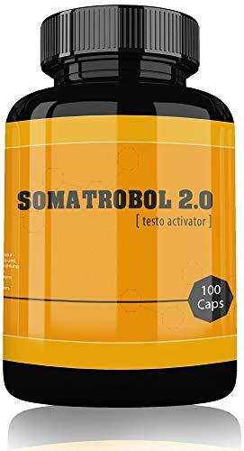 Somatrobol By VargPower Testo Booster 100 Kapseln Original Produkt Neuer Trainings Testosteron Booster Für Bodybuilder und Männer Hohe Qualität Schneller Versand mit Amazon Prime