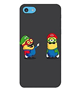 Takkloo cute cartoon cartoon with mushtache,grey background, one eye cartoon) Printed Designer Back Case Cover for Apple iPod Touch 6