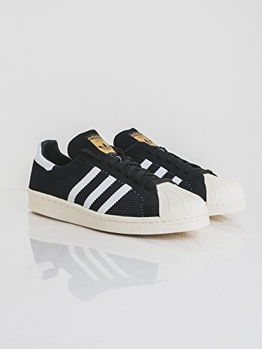 adidas Unisex-Erwachsene Superstar 80s Prime Low-Top core black-ftwr white-gold metal