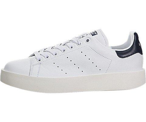 adidas Women's Stan Smith Bold Originals Black/White/Navy Casual Shoe