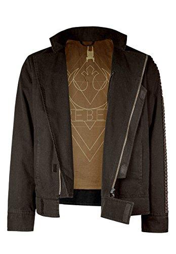 Musterbrand Star Wars Jacke Herren Cassian Übergangsjacke Braun XL (Rogue Jedi Kostüm)