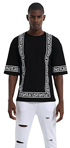 pizoff-unisex-hip-hop-basic-oversized-t-shirts-with-web-design-in-black-and-white-y1710-black-l