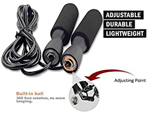 ARZ-Skipping-Rope Jump Skipping Rope for Men, Women, Weight Loss, Kids, Girls, Children, Adult - Best in Fitness, Sports, Exercise, Workout