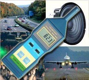 Preisvergleich Produktbild Profi Schallpegelmessgerät Schallpegelmesser Flug- und Straßenlärm SP2