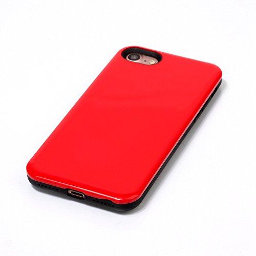 Voguecase Pour Apple iPhone 7 4,7, [TPU+PC]Coque de protection double couche pour Apple iPhone 6/6S 5,5, Absorption des chocs améliorée, Ajustement Parfait Coque Shell Housse Cover (2 in 1-Rouge)+ Gra 2 in 1-Rouge