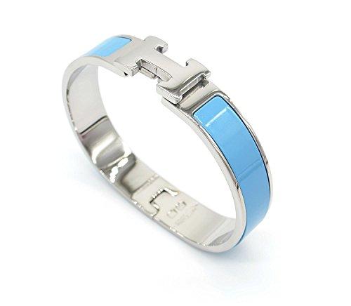 H-förmigen Schnalle Armband Armreif für Frauen (Silver Blue)