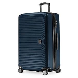 Hauptstadtkoffer Mitte – Großer Rollkoffer, Koffer Hartschale mit 8 cm Erweiterung, TSA, 4 gummierte Doppelrollen, 77 cm, 130 L, Dunkelblau
