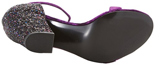Guess Bambam, Sandales Plateforme Femme Rouge (Purpl)