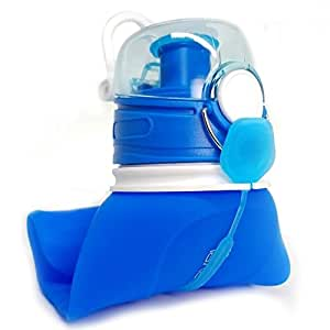 COLLAPSIBLE Water Bottle 750ml + LEAK PROOF VALVE | BPA-Free Food-Grade Silicone