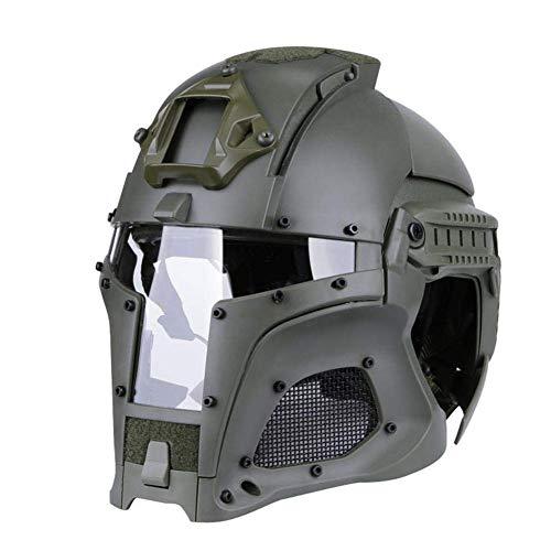 BRG315 Helm,Airsoft Paintball Tactical Helmet,Mittelalterliche Iron Knight Vollmaske Mit Schutzbrille,Cosplay Schutzausrüstung Für Army Military Style SWAT Combat,B -