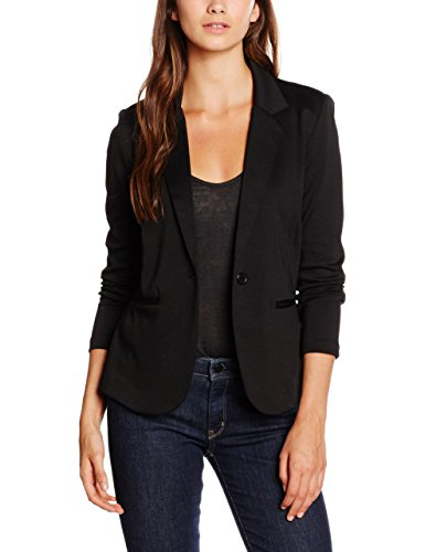 ICHI Damen Anzugjacke Kate BL,Schwarz (Black ( Solid) 10001),40 (Herstellergröße: L)