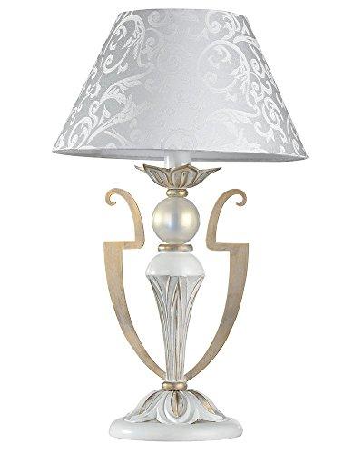 Lampe à poser, Armature en Métal couleur or blanc,40 W E14 220V -240V