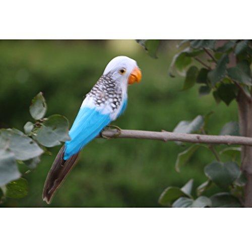 FLAMEER 15-28cm Faux Oiseaux Artificiel à Plumes Réaliste Jardin Décor à La Maison Taxidermie - #6 (Perroquet), 15 * 5 * 3cm