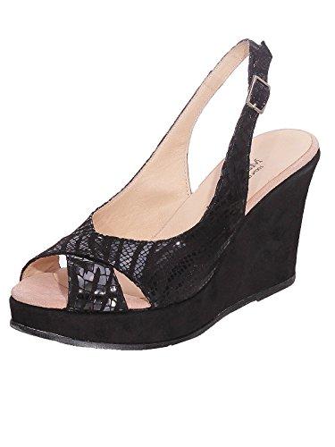 Marion Spath , chaussures compensées femme Noir - Noir