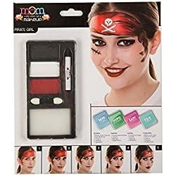 Kit de maquillaje de pirata para mujer.
