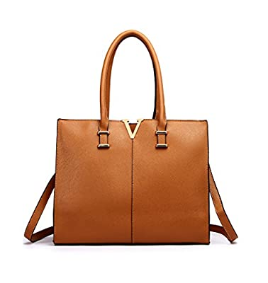 LeahWard Faux Leather Large Size Women's Tote Bags College A4 Folder Handbag Sale Clearance 319