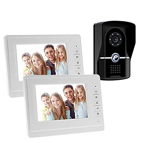 Lqqml Video Türklingel Video-Türsprechanlage Türklingel Intercom System / 7-Zoll-WiFi-Monitor mit kabelgebundener Außenkamera/Nachtsicht/Support-Fernbedienung entsperren/sprechen und anzeigen/aufneh