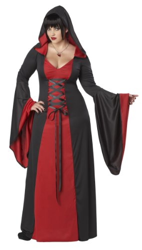 Womens Deluxe Hooded Robe RED (Plus Size) - ()