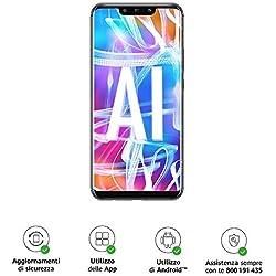 """Huawei Mate 20 Lite più Flip Cover Nera originale, Telefono con 64 GB, Display 6.3"""" Full HD, Processore Octa Core con Intelligenza Artificiale, Batteria da 3750 mAh, Nero (Black) [Versione Italiana]"""