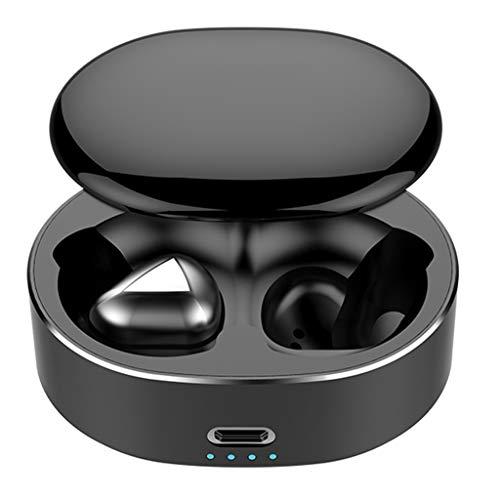 Dkings Bluetooth-Kopfhörer, wasserdichtes IPX7, kabellose Ohrhörer, reichhaltigerer Bass-HiFi-Stereo-In-Ear-Ohrhörer mit Mikrofon, Gehäuse, 3-7 Stunden Wiedergabe-Noise-Cancelling-Kopfhörer (Black) Boot-stereo-gehäuse