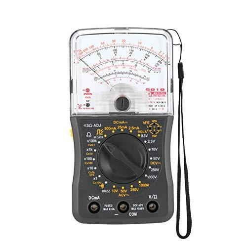 Mini portátil multímetro analógico AC/DC del amperímetro del voltímetro Resistencia Continuidad de la capacitancia de fusibles y diodos Tester (gris)