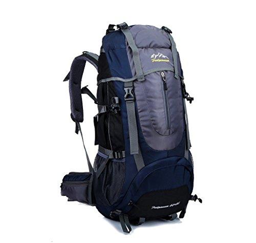 Skysper- Wasserdichter Freizeit Rucksack Trekkingrucksack Bergsteigen Tasche 60+5 Liter