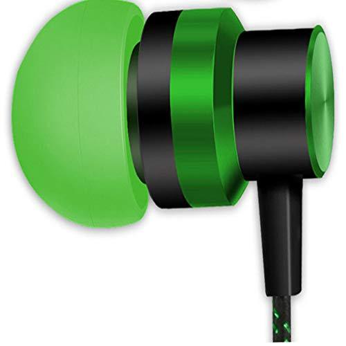 OhrstöPsel KopfhöRer 3,5 Mm In-Ear-Sport-Headset Mit Kabel Musik Bass Sound KopfhöRer Outdoor-KopfhöRer Universal Mp3 Headset Tragbar Kabelgebundenes Headset Mit Mikrofon