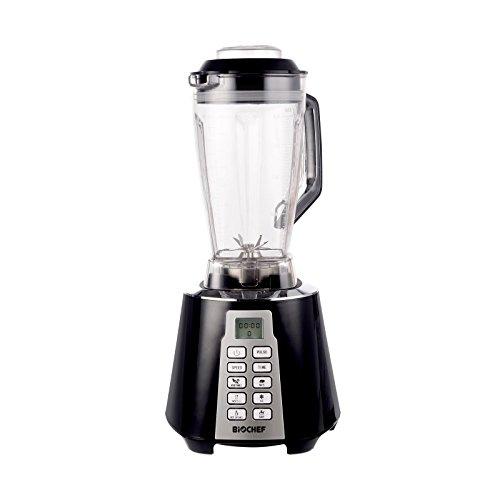 BioChef Nova Mixer - Hochleistungsmixer/Smoothie Maker - 1600 W, 28000 U/Min, 2L BPA-freier Behälter mit 6 Programmen & Impuls Funktion (Schwarz)