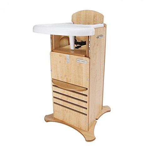 Küche Holz-finish Stuhl (Little Helper nbfphc02–1IT Hochstuhl Mehrzweck preisgekrönte FunPod und Zündsicherung für die Küche, Finish in Natur)